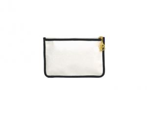Pochette plate zippée Perle 17x11cm #3271