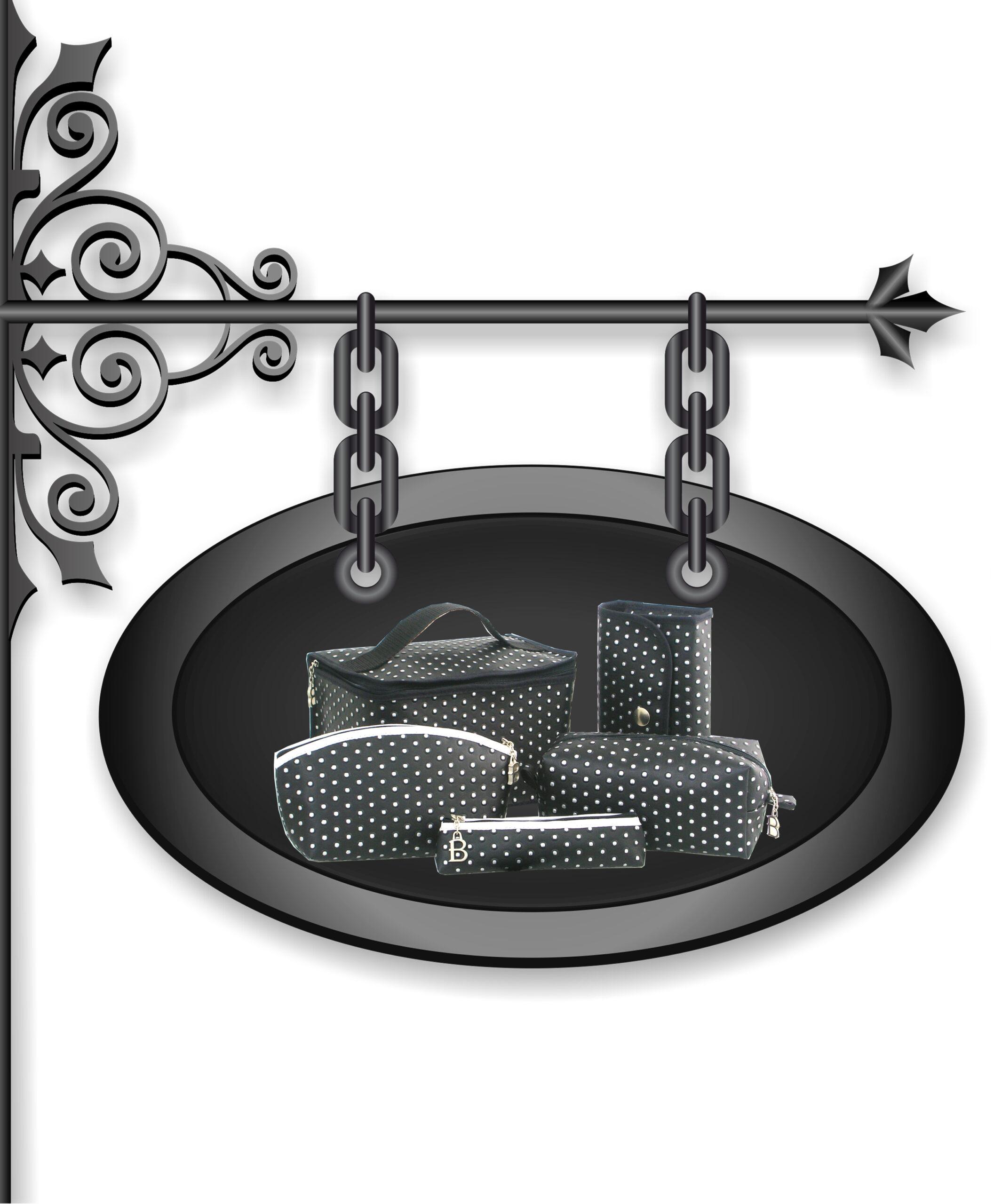 Petite maroquinerie - collection rock - noir et blanc